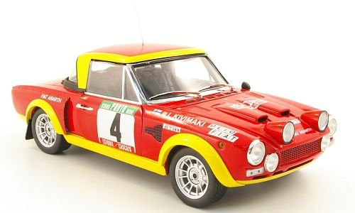 Fiat 124 Abarth, No.4, Olio Fiat, Rally Portugal , 1975, Model Car, Ready-made, Sun star 1:18 ()