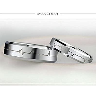 Free Engraving fashionlife2018 Titanium Steel Couples Promise Ring Romantic Valentines Day Wedding Anniversary Rings