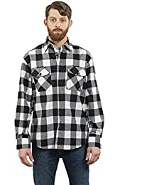 Men's Outdoor Long Sleeve Flannel Plaid Button Down Shirt