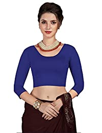 CRAZYBACHAT Crazy Bachat Women's Readymade Indian Designer Stretchable Blouse for Saree Crop Top