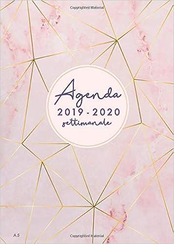 Amazon.com: Agenda settimanale 2019/2020 A5: Agenda 2019 ...