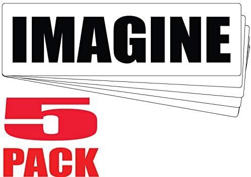 [해외]Bumper Planet - Bumper Sticker - Imagine - John Lennon Quote - 5 Pack - 3 x 10 inch - Vinyl Decal Professionally Made in USA / Bumper Planet - Bumper Sticker - Imagine - John Lennon Quote - 5 Pack - 3 x 10 inch - Vinyl Decal Profes...