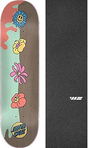Santa Cruz Skateboards Baked Dot Skateboard Deck VX 8.5 x 32.2 with Black Magic Black Griptape Bundle of 2 Items