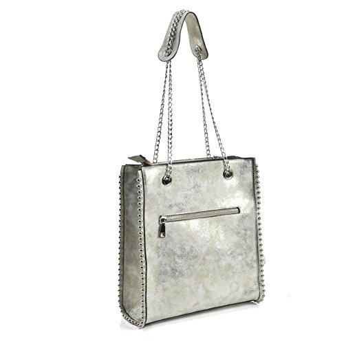 Gold Women Chain Fashion Hobo Bag Handbag Handbag Shoulder Long SALLY YOUNG With Handles T7nq5fExY
