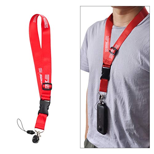 Sodoop Neck Lanyard Sling for DJI OSMO Action Camera, Adjustable Waterproof Starp Wristband Hand Hand Rope Compatible for Mobile Phone Insta360 ONE Camera &More