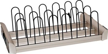 Pull Out Shoe Rack for Closets ENGAGE by Hafele (18'') Matt nickel