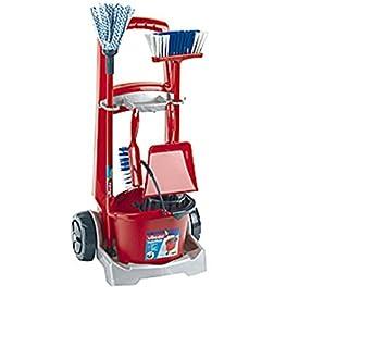 Carro de limpieza escoba carro con zahlreichem accesorios para niños/niños juguete/Juego De Fregona con cubo y accesorio, escoba, fregona, escoba y pala: ...