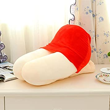 Red WDDH Creative Beauty Thighs Fun Nap Pillow Boyfriend Girlfriend Husband Office Sleeping Spoof Valentine Gifts
