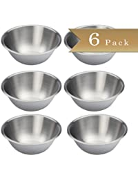 Want Set of 6 - Stainless Steel Mixing Bowls - 6.5