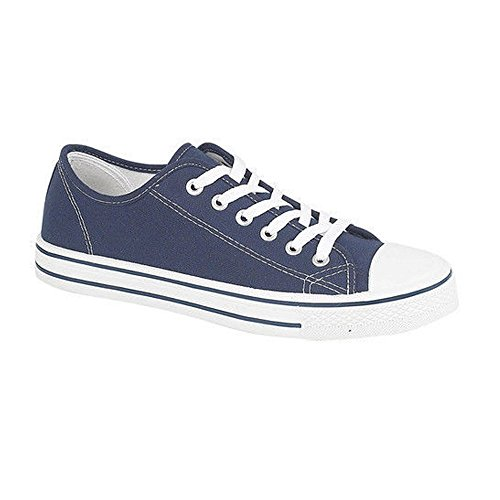 Genesis Zapatillas mujer para Lona Azul de aHTqnazS