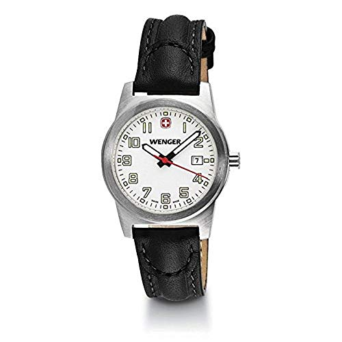 Wenger Field Classic White Dial Leather Strap Ladies Watch ()