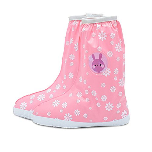 Children's A Girls Shoes Rain For Boys Pink Pack Sandproof Cover 3 Waterproof Pair Rainproof Slip resistant And rRrPa4wn