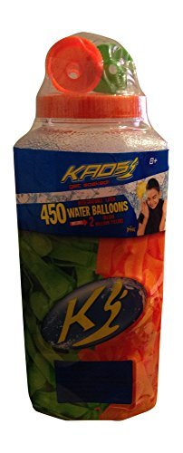 Kaos Orange & Green Latex Water Balloons - 450 Count and 2 Deluxe Balloon (Orange Water Balloons)