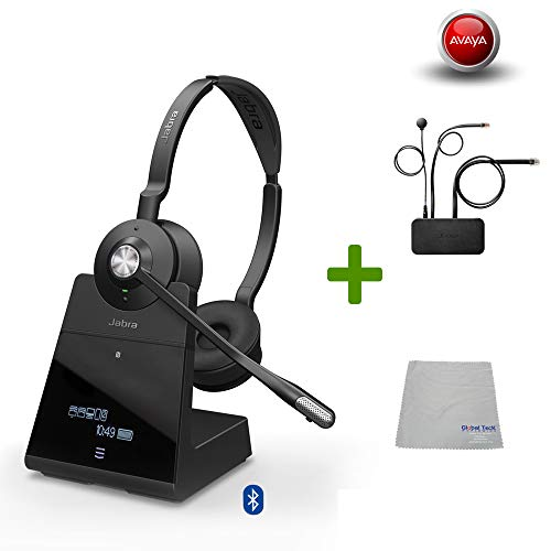 Avaya Compatible Jabra Engage 75 Wireless Headset Bundle with EHS Adapter for IP Office - Agent | Bluetooth Phones, PC/MAC USB, Select Avaya Desk Phones Compatible - 2410, 2420, 5410, 6416 D+M, 6424 D