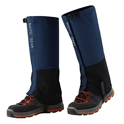 MAIYU 1 Pair Snow Gaiters, Hiking Camping Mountain Climbing Leg Gaiters Oxford Waterproof Dustproof Antiwater Leg Cover Breathable Anti-bite High Gaiters Leg Protection Guard Boot Guardian by MAIYU