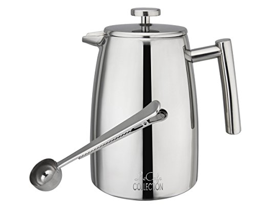 Tea And Coffee Maker French Press Coffee Plunger : LeCafe Collection Premium Stainless Steel French Press Coffee and Tea Maker, Plunger, Press Pot ...