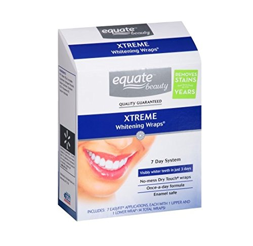 Price comparison product image Equate Xtreme Whitening Wraps 7 Day System