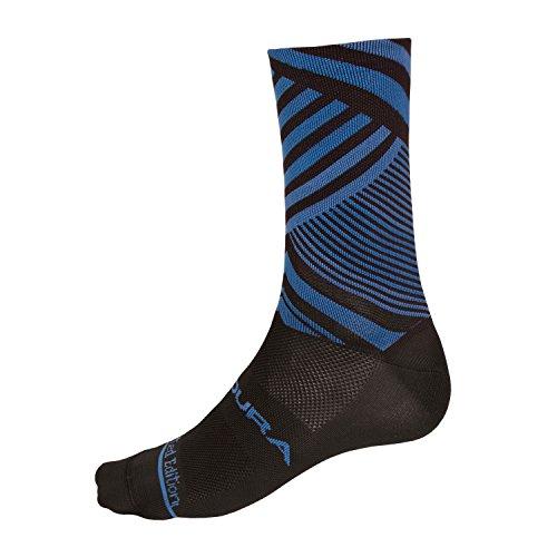 Endura Oblixe Graphic Cycling Sock Oblixe Blue, L/XL