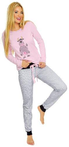 Italian-Fashion-IF-Pigiami-Due-Pezzi-per-Donna-Malina-New-0223