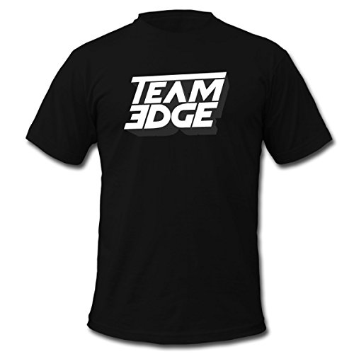 Spreadshirt Team Edge Logo Men's Fine Jersey T-Shirt, L, Black (Player Team Logo)