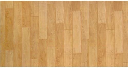 明和グラビア 1帖フロアーマット 木目 ベージュ 約80×170cm 木目 ベージュ