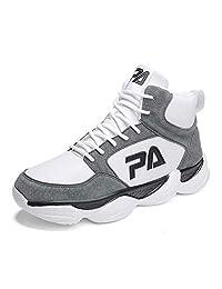 GLSHI Hombres Cima Mas Alta Baloncesto Zapatos Otoño Ligero Zapatillas Al Aire Libre Corriendo Zapatos
