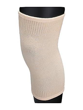 eDealMax Unisex elástico de compresión rótulas rodilleras Ajustable Calcetines Grande Beige