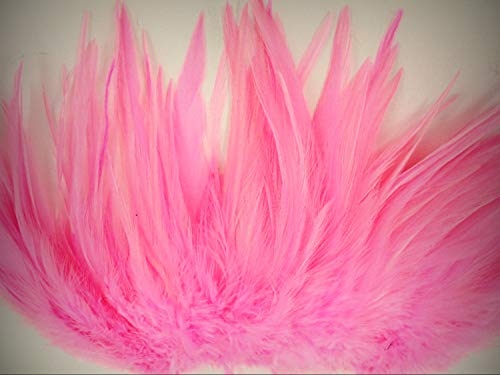 1 Packet of 25pc Light Pink Rooster Saddle