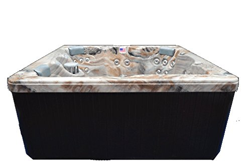"Home and Garden Spas HG51T 6 Person 51 Outdoor Spa with Stainless Jets & Ozone, 82"" x 82"" x 35"", Tuscan Sun"