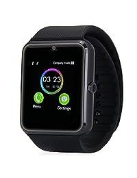 Bluetooth Smart Watch, Aosmart G88 Smartwatch for Android Smartphones (Black)