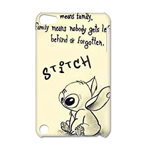 3D Print Ohana Quote From Classic Animated Film& Lilo&Stitch Background Case Cover for IPod Touch 5- Personalized Hard Back Protective Case Shell-Perfect as gift