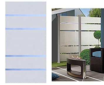 Amazon De Sichtschutz Glas Element Alpha 180x90cm Satiniert Mit 4