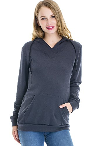 Smallshow Women's Fleece Maternity Nursing Sweatshirt for sale  Delivered anywhere in Canada