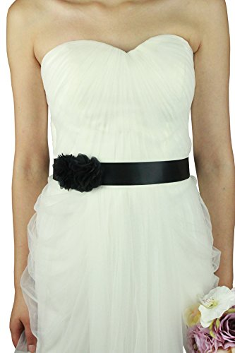 Simple Flowers Belts/sashes for Wedding/party/bridal Dress A06 in 12 Colors