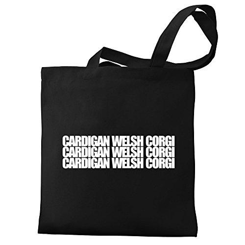 Cardigan Bag Eddany Corgi three Welsh Corgi words Eddany three Tote Welsh Cardigan words Canvas BSYgqR