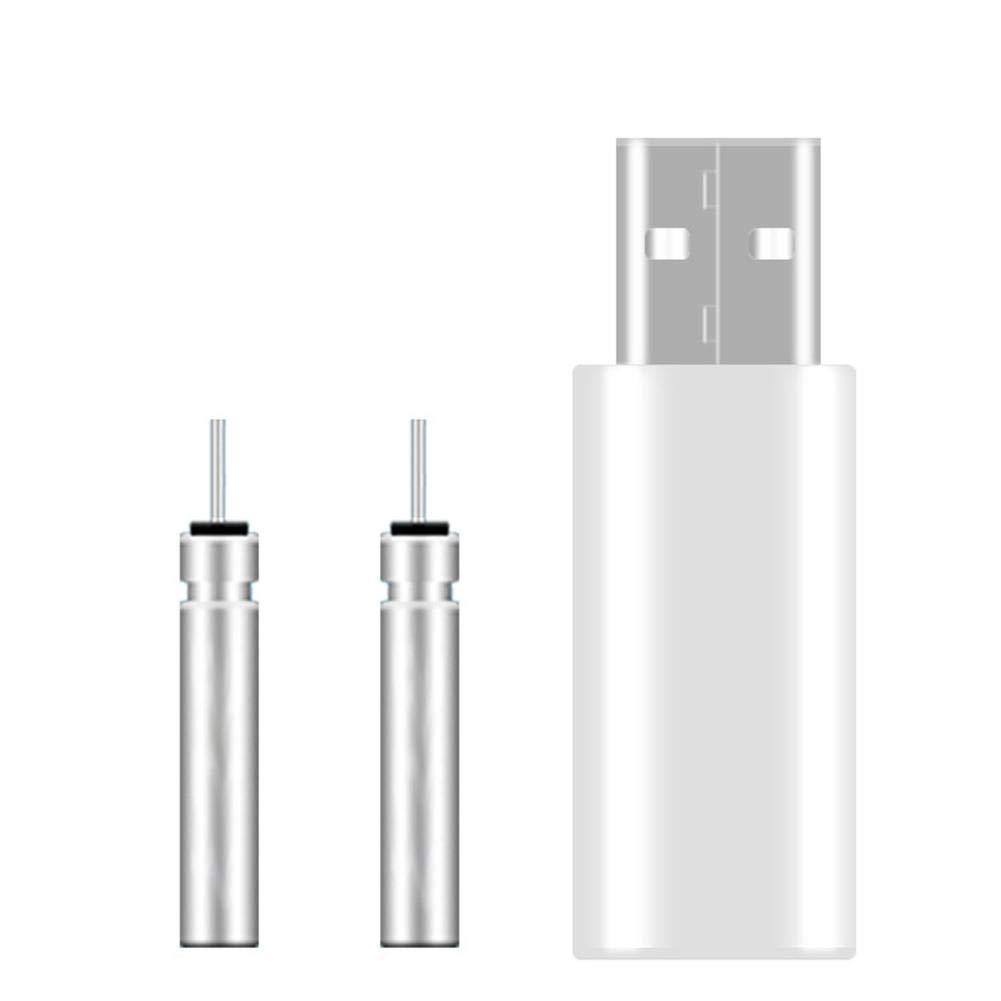 CARTEY USB-Ladeger/ät F/ür Angeln Float Akku Elektrischer USB Wiederaufladbare CR425 Knicklicht-Ladeger/ät Batterie Elektronische Boje Bobber Zwei Ports Aufladen