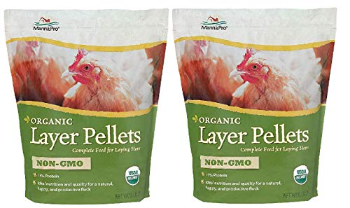 Manna Pro Organic Non-GMO Layer Pellets, 10 Pounds (Pack of 2) (The Best Laying Hens)