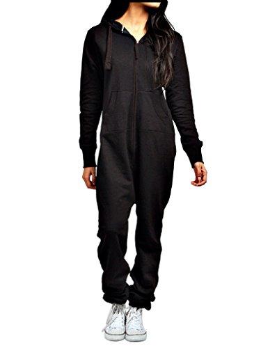 heiße Verkäufe Herren Damen Unisex Overall Kapuzenpullis jumpsuit alle Größen (schwarz, M)