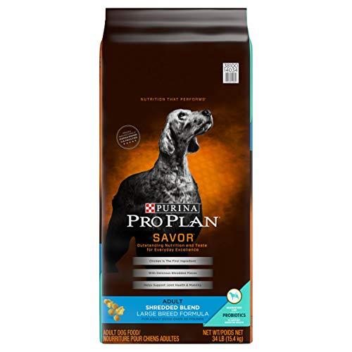 Purina Pro Plan With Probiotics Large Breed Dry Dog Food, SAVOR Shredded Blend Large Breed Formula - 34 lb. Bag