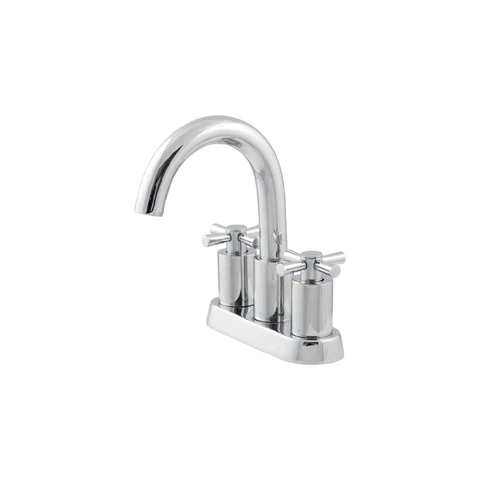 Schon 4Chrome Bathroom Sink Faucet Modern Cross Handle