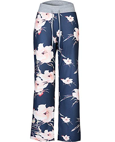 Anyou Womens Comfy Striped Drawstring Yoga Wide Leg Pajama Lounge Pants Size Medium