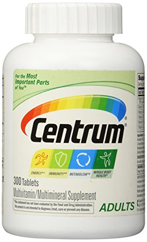 Centrum Adult (300 Count) Complete Multivitamin / Multimineral Supplement Tablet, Vitamin D3, B Vitamins, Iron, Antioxidants by Centrum (Image #1)