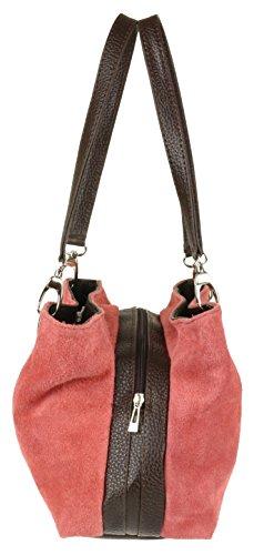 Bandolera Coral Girly De Piel Ante Bolso Handbags Italiano rfEwq4E0n