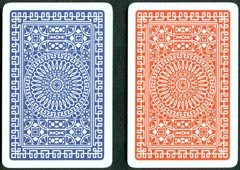 2 Deck Set of Modiano Club 100% Plastic Playing Cards - Includes Bonus Cut Card! (blue/red)