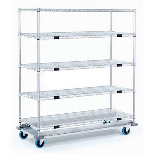 Open Sided Wire Exchange Truck, 5 Wire Shelves, 1000 Lb. Cap, ()