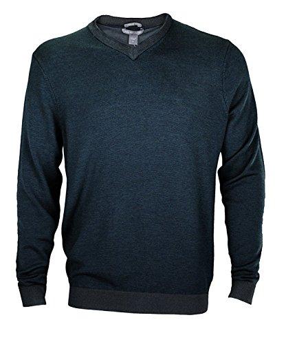(Ashworth Men's Plaited Merino V-Neck Sweater (Large,)
