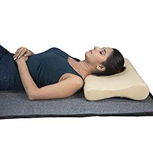 JSB BS52 Orthopedic Memory Foam Cervical Pillow for Neck Pain Cervical Spondylitis Relief (B Shaped)
