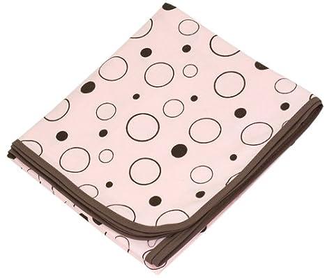 Kushies B540-B14 Receiving Blanket, Pink, Crazy Bubbles