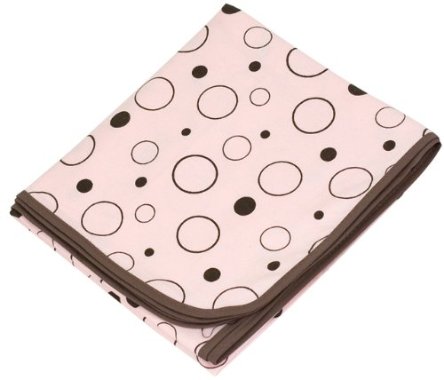 Kushies Receiving Blanket, Pink Crazy (Kushies Cotton Blankets)