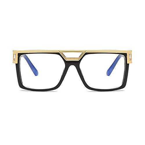 Lente Gafas mujer para Lens Unisex Gradient para hombre diseño Eye con negra Day Vision de hombre sol Wear marca Transparente estuche de Cuadrado wayfarer dxOqdX
